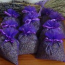 50 purple organza bags with about 20gr of lavender 10x13 cm
