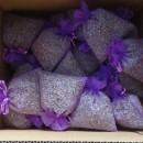 50 sacchetti di organza viola con circa 20gr di lavanda 10x13 cm