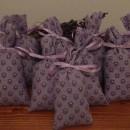 10 sacchetti in tessuto provenzale lilla scuro 13x6cm con circa 15 gr di lavanda
