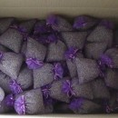 250 purple organza bags with about 20gr of lavender 10x13 cm