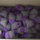 250 sacchetti di organza viola con circa 20gr di lavanda 10x13 cm