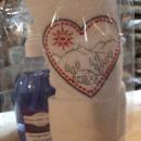 500 ml detergente mani lavanda con asciugamano ricamato paesaggio montano 40x60 cm