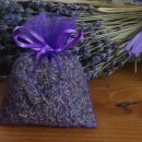 10 sacchetti di organza con lavanda viola 9x12 cm
