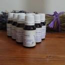 50 olio essenziale in flacone marrone con contagocce da 15 ml lavanda lavandino raccolto 2019 etichetta museo della lavanda