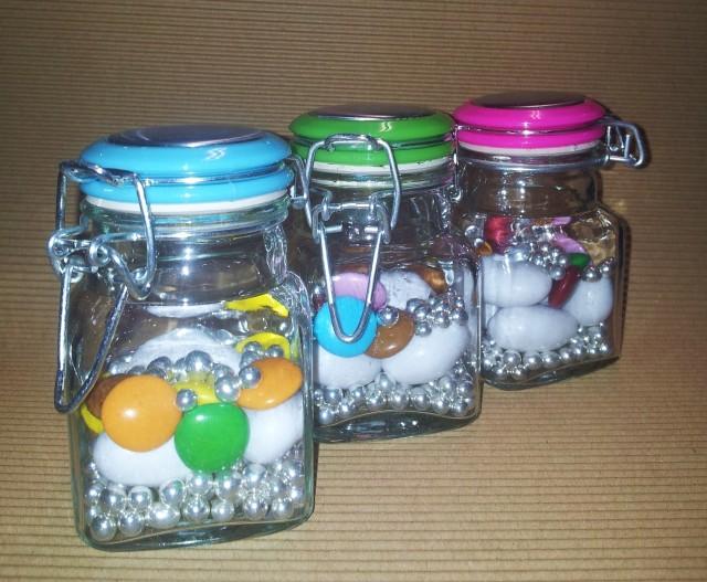 Confezione di 48 barattoli vetro bomboniere car colorati - Barattoli vetro ikea ...