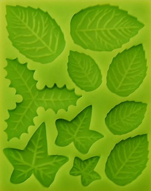Stampo in silicone di 10 diversi tipi di foglie - Diversi tipi di api ...