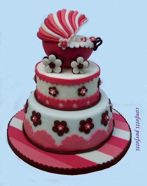 Torta Decorata In Pasta Di Zucchero Culla