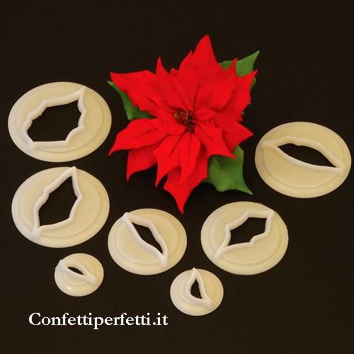 Dolce Stella Di Natale Ingredienti.Crea Una Stella Di Natale Bellissima Con Il Set Di 7 Stampi In