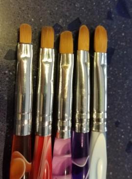 5 pennelli di varie misure con Ball Toll per il cake design