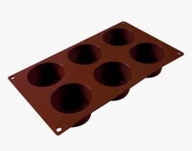 6 Cavità. Stampo in silicone per Muffin, Brownie, Cupcake e Dolci.