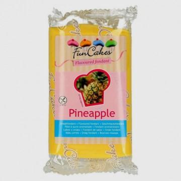 Aromatizzata Ananas. Pasta di zucchero Gialla e Sapore di Ananas. Funcakes. 250 gr.
