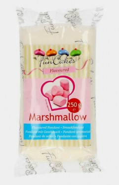Aromatizzata Marshmallow. Pasta di zucchero Bianca FunCakes. 250 gr.