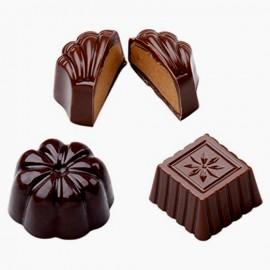 Cioccolatini Classici. Stampo in policarbonato flessibile. PME Classic Chocolate Candy Mould. immagini
