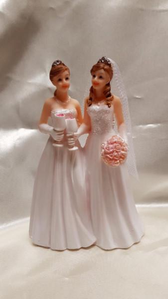 Coppia donne Bouquet fiori  e Calici