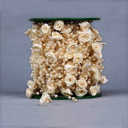 Filo perle con rose perlate