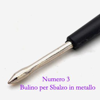 Numero 3 Bulino per Sbalzo in metallo