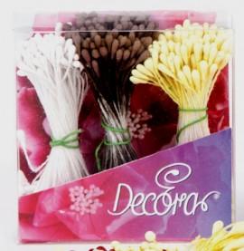 Pistilli Bianchi, Marrone e Gialli per fiori 432 pz.