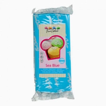 1 Kg Blu Mare. Pasta di zucchero FunCakes