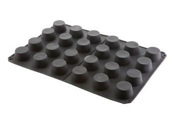 24 Muffin. Stampo in silicone Professionale con Piastra 600x400.