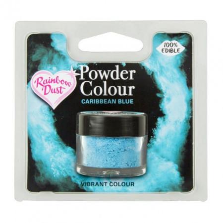 Blu dei Caraibi. Colorante in polvere concentrato. Rainbow Dust di alta qualità