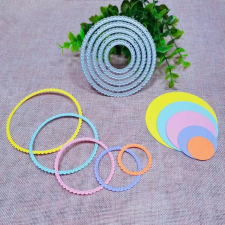 Cerchi decorati Fustelle sottili metalliche per Scrapbooking