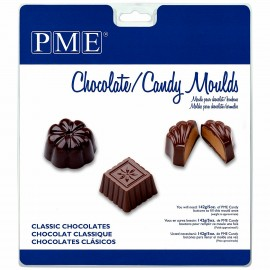 Cioccolatini Classici. Stampo in policarbonato flessibile. PME Classic Chocolate Candy Mould.