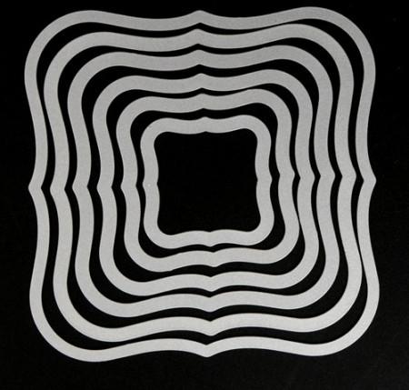 Cornice Decorata Quadrata con punte. 6 Fustelle sottili metalliche per Scrapbooking