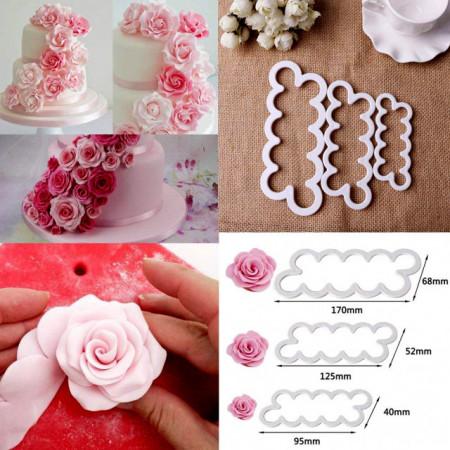 Stampi Rosa per la pasta di zucchero