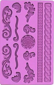 Elegant. Stampo in silicone più 2 bordi decorativi.