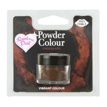 Marrone Cioccolata. Colorante in polvere concentrato. Rainbow Dust per decorare dolci