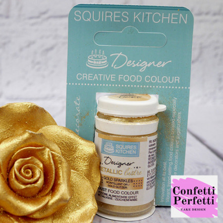 Oro Metallizzato. Colorante Lipo in polvere Squires Kitchen
