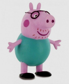 Peppa Pig. Statuina in PVC del Papà di Peppa Pig.