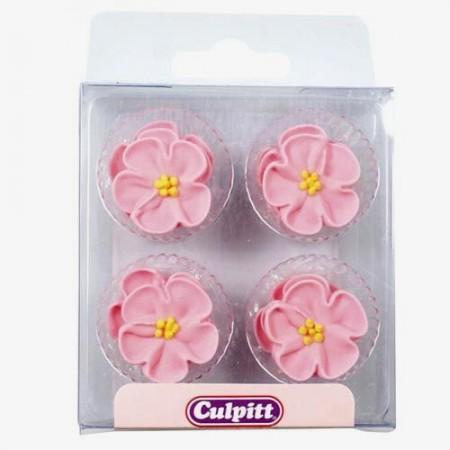 Rose Rosa. Set di 12 decorazioni di zucchero. Culpitt