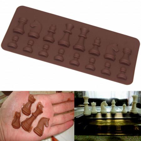 Scacchi. Stampo in silicone di 16 forme