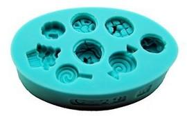 Stampo in silicone per realizzare 8 disegni di simpatici Dolcetti.