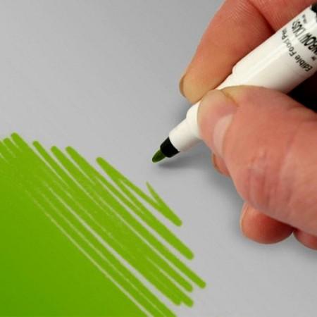 Verde Primavera. Doppia Punta. Pennarello Alimentare con 2 punte di 0,5 mm e di 2,5 mm. Rainbow Dust Food Art Pen