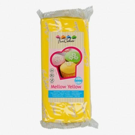 1 Kg. Giallo Sole. Pasta di zucchero FunCakes Mellow Yellow. Senza Glutne