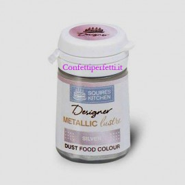 Argento Metallizzato. Colorante Lipo in polvere concentrato. Squires Kitchen
