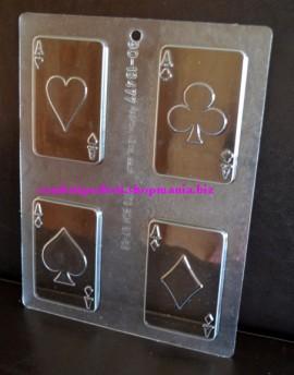 Stampo in policarbonato per carte poker di Cioccolata