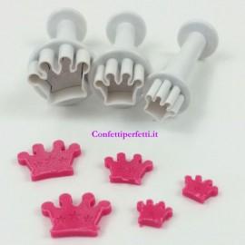 Corone. Set di 3 mini stampi ad espulsione