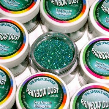 Glitters Verde Mare. RD Sparkles Decorativi Hologram Sea Green. Rainbow Dust immagini