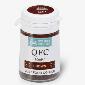 MARRONE . Colorante Lipo in polvere QFC Quality Food Colour Dust Brown. Senza glutine. Squires Kitchen immagini