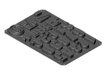 Numeri e Simboli. Stampo in silicone Professionale con Piastra 600x400.