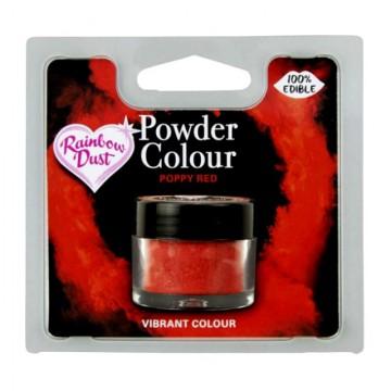 Rosso Papavero. Colorante in polvere concentrato. Rainbow Dust di alta qualità