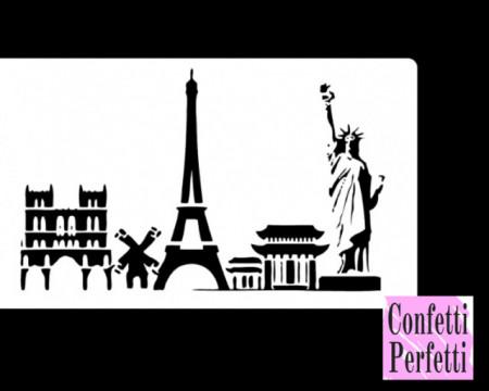 Statua della Libertà e Torre Eiffel stencil