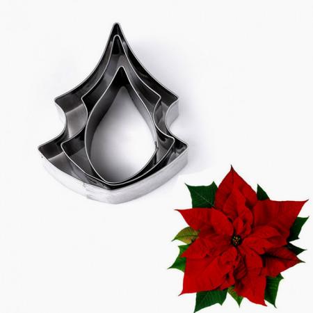 Stella di Natale. Set di 3 Stampi in metallo