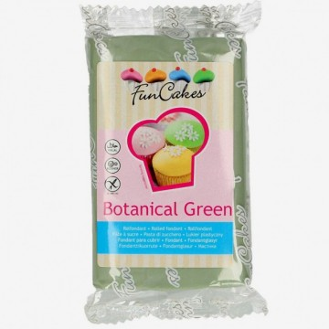Verde Botanico. Pasta di zucchero FunCakes Botanical Green. 250 gr. immagini