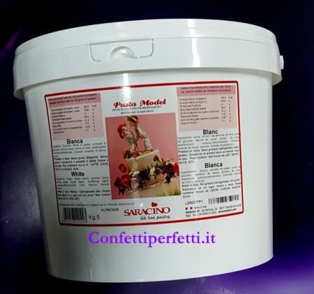 Saracino Model Gum Paste Bianca 5 kg
