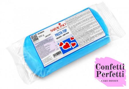 500 gr. Azzurro. Pasta di zucchero Top Saracino. Gluten Free