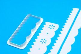 Bordi e Cornici. Straight Frill Cutter. Stampo Tagliapasta